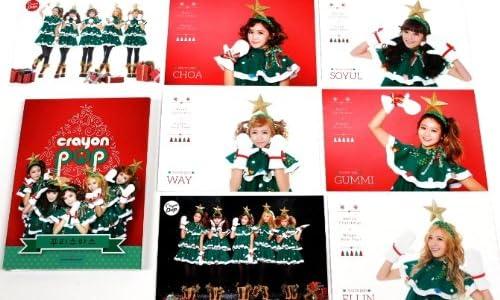 【特製クリスマスポストカード7枚付】 Crayon Pop クリスマス シングル アルバム (韓国盤)【ワンオンワン購入特典/A4クリアファイル付】
