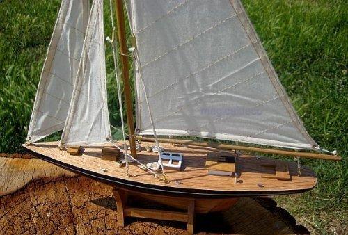 Large Yacht Sailing Boat Yacht Wood 80 CM