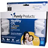 Purely Products PA154M35 3500 Kelvin Mini 15 Watt Healthy CFL, 4-Pack