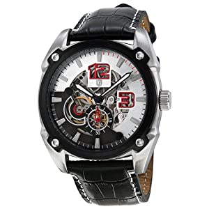 Brooklyn Watch Company Automatic Skeleton Dial Stainless Steel Mens Watch 13381B