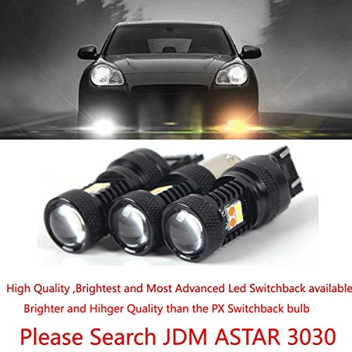 JDM ASTAR Super Bright AX-2835 Chipsets White/Amber 1157 2057 2357 7528 Switchback LED Bulbs For Turn Signal Lights