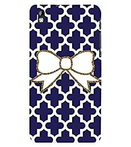 D KAUR Bow Navy Blue Back Case Cover for HTC Desire 816::HTC Desire 816 G::HTC Desire 816D::HTC Desire 816G (Octa Core)