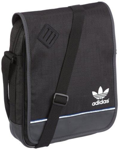 adidas Z37160, Borsa a tracolla Uomo, Nero (black), 32 x 7 x 25 cm (L x A x P)