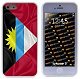 Rikki Knight Antigua and Barbuda Flag Hybrid iPhone Case for Apple iPhone 5 & 5s