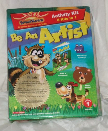 SUMMER VACATION: BE AN ARTIST ACTIVITY KIT - 3 KITS IN 1 - 1