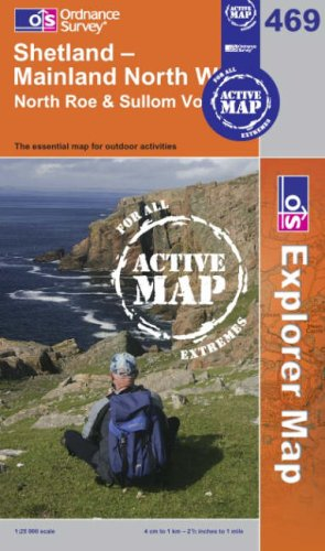 Shetland - Mainland North West (OS Explorer Map Active)