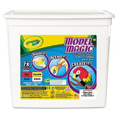 Crayola® Model Magic Self-Hardening Modeling Compound, Four 8oz Pouches, Four Colors