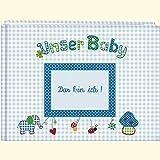 Image de Unser Baby (hellblau): Großes Stoff-Fotoalbum (Große Fotoalben)