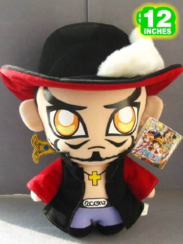 Cool  Mihawk 12 Inches One Piece Plush Doll image