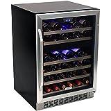 46-Bottle EdgeStar Built-In Dual-Zone Wine Cooler