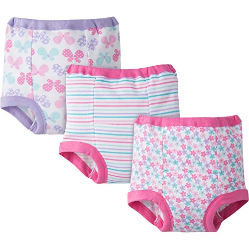 Gerber Baby Toddler Girl Training Pants,Pastels Pinks, 3-Pack, 2T (Gerber Training Pants 4t compare prices)