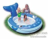 Pool Slides:Whale Spray blow up Kiddie Pool