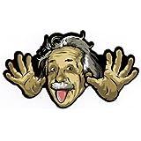 Crazy Albert Einstein Mad Scientist Sticker for Skateboards, Snowboards, Scooters, BMX, Mountain Bikes, Laptops, iPhone, iPod, Guitars etc