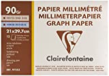 Clairefontaine 97553C Quilters Graph Paper Pad A4 Punched holes 90 g Pack of 10 12 Sheets White