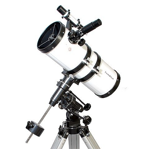 Silver TwinStar 6 Short Tube Reflector Telescope EQ Mount