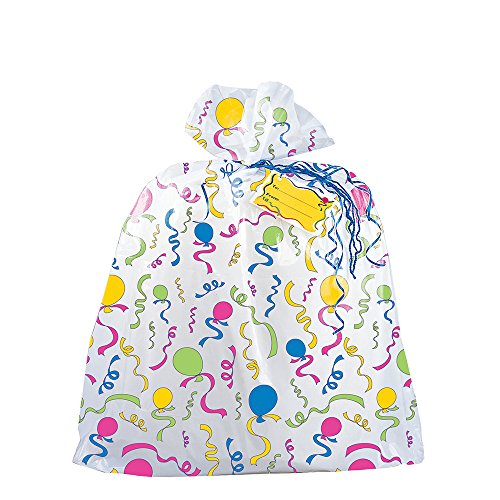 Jumbo Plastic Balloons & Streamers Gift Bag