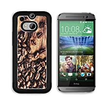 buy Msd Htc One M8 Aluminum Plate Bumper Snap Case Coffee On Grunge Wooden Closeup Roasted Coffee Beans On Vintage Table Macro Image 25774178