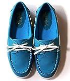 (Clack) レディース 靴 / カラフル デッキシューズ 紐靴 ヘビロテ ブルー S M L LL FREE