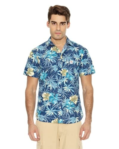 Franklin & Marshall Camisa Wilcox Flores Azul