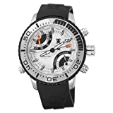 Tx T3c417 World Time Multifunctional Silver Detail Watch With Black Pu Strap