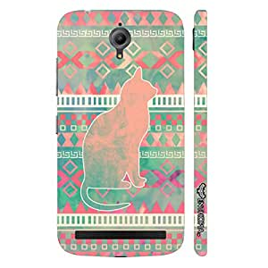 Asus Zenfone Go Cat Aztec designer mobile hard shell case by Enthopia