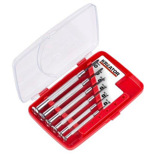 Przisions-Schraubendreher-Set-Feinmechanikwerkzeug-Uhrmacherset-Chrome-Vanadium-Stahl-6-Stck-Przisions-Schraubendreher-Chrome-Vanadium-6-Stck-Schlitz-Kreuz-in-Kunststoffbox