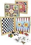 Vilac 8635 - Caja de juegos de mesa clásicos [Importado de Francia]