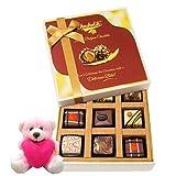 Valentine Chocholik Premium Gifts - Sweet & Tasty Chocolate Gift Box With Teddy