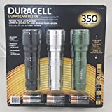 Duracell Durabeam Ultra 350 Lumens Tactical High-Intensity Compact LED Flashlight, 3-Pack