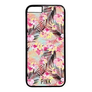 Iphone 6 Case,Victoria's Secret PINK Flowers Design PC Black Case for Iphone 6 4.7inch(I Series)