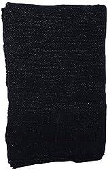 Frolic Women Stoles (80Black, Black, Free Size)
