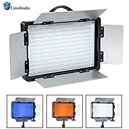 LimoStudio Photo Video Studio Dimmable LED Light Barndoors Panel Continuous Light , AGG1573