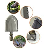 Folding Shovel EZYKOO Compact Shovel with Carrying Pouch for Hiking Backpacking Camping Multitool Portable Shovel Including Hoe,Saw,Rescue Knife,Wire Cutter,Bottle Opener,Fire Starter,Glass Breaker
