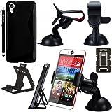 BAAS® HTC Desire EYE - Stylish S Line Gel Case Cover , Touch Screen Stylus Pen , 2X Screen Protector Guard & Desktop Stand