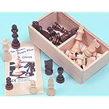Chess men, wood Staunton pattern, 75mm. King - 00201