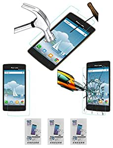 Acm Pack Of 3 Tempered Glass Screenguard For Panasonic P75 Mobile Screen Guard Scratch Protector