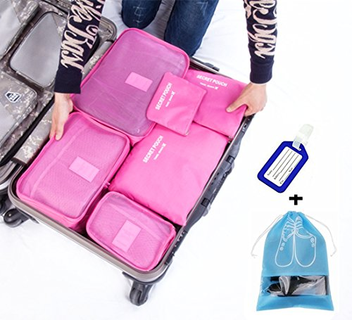 SPO4u 8 Sets Packing Cubes for Travel Luggage Organizer Value Set - Lightweight & Durable Packing Bags - Great for Carry-on Luggage Accessories Roes (E Gift Card Ebay compare prices)