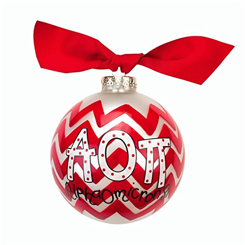 Alpha Omicron Pi Chevron Ornament