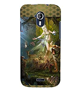 ColourCraft Loving Angel Design Back Case Cover for MICROMAX CANVAS MAGNUS A117