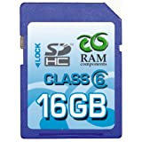 RAM Components 16GB SDHC Class 6 High Speed Professional Speicherkarte - Secure Digital High Capacity (SD HC Card) - inkl. Casevon &#34;RAM Components&#34;