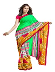 Ethnic Trend Chiffon Saree With Blouse Piece