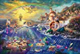 12x18 Thomas Kinkade Disney Art Print on Cotton Canvas - The Little Mermaid