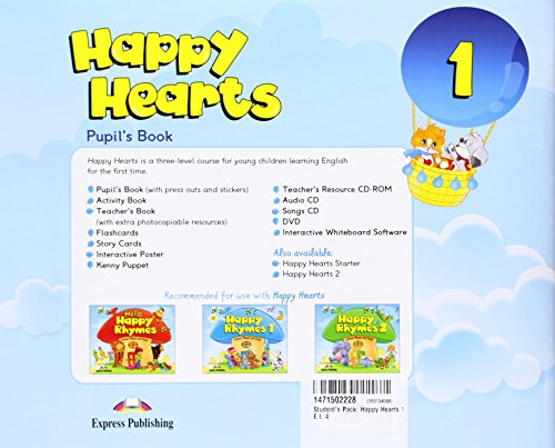 Happy Hearts 1 Pupil's Pack 3 (Songs CD/DVD PAL & Optionals)
