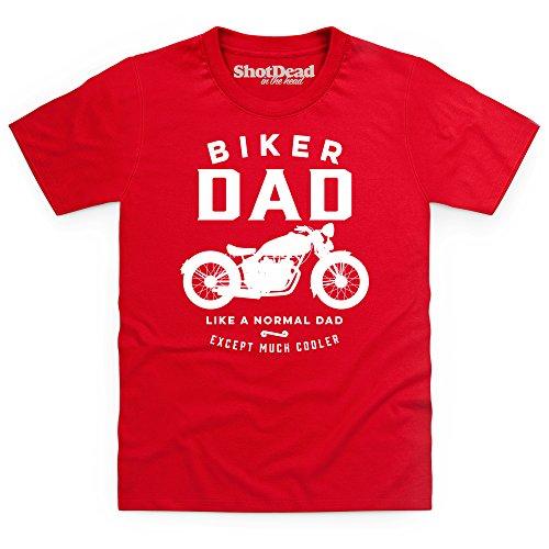 Biker Dad T-shirt bimbi, Bimbi, Rosso, XS