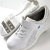 Blancエアー ナースシューズ ホワイト 足裏通気孔と弾んで歩ける高反発靴底 ゴム紐スニーカー 白 ランキングお取り寄せ