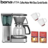 Bonavita BV1800 8 Cup Coffee Maker With Glass Carafe And Cleancaf Bundle