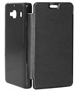Moblus Flip Cover For Samsung Galaxy J2 (Black)
