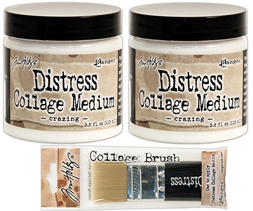 ranger-tim-holtz-crazing-collage-medium-two-full-size-jars-with-medium-size-brush-bundle