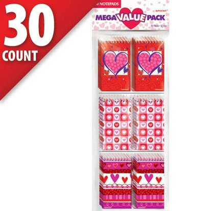 Valentine's Day Mega Value Pack Note Pads, 30 Count