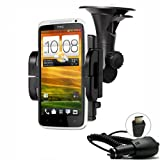 IMOOVE - Kit Support Auto Voiture HTC INCREDIBLE S / HTC CHACHA / HTC SALSA / HTC DESIRE / DESIRE HD / HD 7 / WILDFIRE / BUZZ / HERO + Chargeur Autopar IMOOVE
